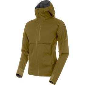 Mammut Ultimate V SO Hooded Jacket Herren olive-titanium melange